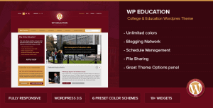 WP Education – Responsive, professional and powerful education theme