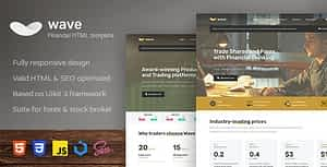 Wave – Finance and Investment HTML Template