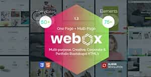 Webox – One Page Parallax