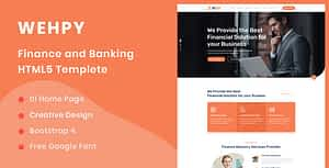 Wehpy – Multipurpose Finance and Banking HTML5 Template