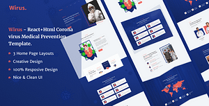 Wirus – React+HTML Covid-19 Coronavirus Medical Prevention Template