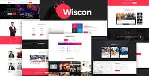 Wiscon – Conference & Event HTML Template