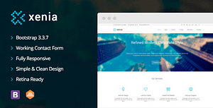 Xenia – Refined HTML 5 / CSS 3 Corporate Template