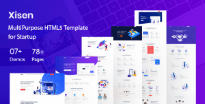 Xisen – Creative HTML5 Template for Saas, Startup & Agency