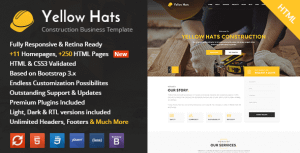 Yellow Hats – Construction, Building & Renovation HTML Template