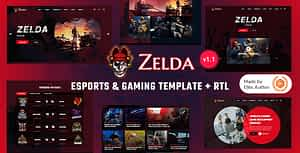 Zelda – eSports & Gaming Template