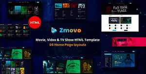 Zmovo – Online Movie Video And TV Show HTML Bootstrap 4 Template