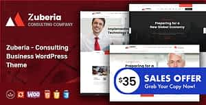 Zuberia – Business Consulting Services WordPress Theme