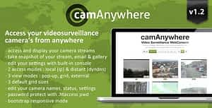 camAnywhere Video Camera Surveillance WebConsole