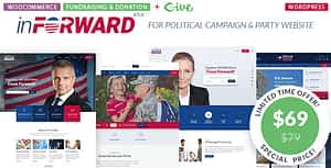 inForward – Political Campaign and Party WordPress Theme
