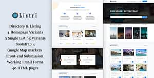 listry – Directory & Listing HTML Template