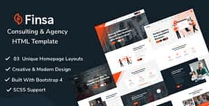 Finsa – Consulting & Agency HTML Template