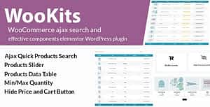 Wookits – WooCommerce ajax search and effective components elementor WordPress plugin