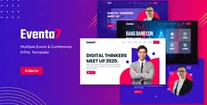 Eventa7 – Event Conference HTML Template