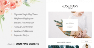 Rosemary – A Responsive WordPress Blog Theme