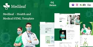 Medileaf – Health and Medical HTML Template