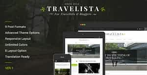 Travelista – WordPress Blog Theme