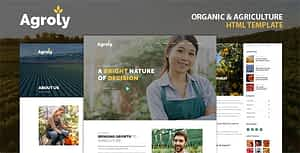 Agroly – Organic & Agriculture Food HTML Template