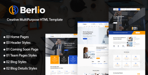 Berlio – Multipurpose Business And Agency HTML Template