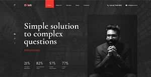 Zeus – Lawyers and Law Firm HTML Template