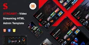 Streamit | Video Streaming HTML Admin Template