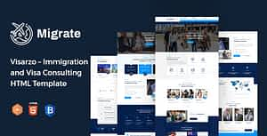 Migrate – Immigration and Visa Consulting HTML Template