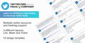 Twitter Feed Addon for Visual Composer – WPBakery Twitter Addon for WordPress