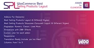 WooCommerce Best Selling Products Layout for Elementor – WordPress Plugin