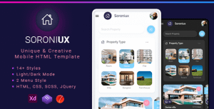 Soroniux Mobile HTML template with Bootstrap and Framework 7
