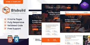 BluBuild – Industrial Construction HTML Template