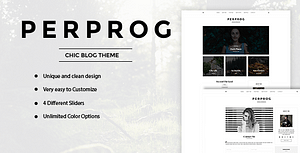 PerProg – Minimalist WordPress Blog Theme