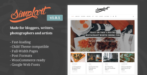 Simplart – Responsive WordPress Blog Theme