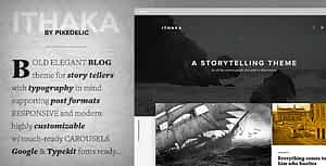 Ithaka Responsive WordPress Blog Theme