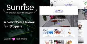 Sunrise – An Elegant WordPress Blog Theme