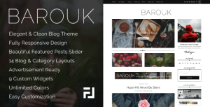 Barouk – An Elegant Responsive WordPress Blog Theme