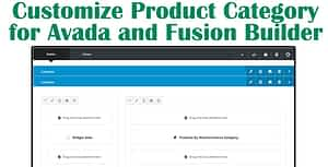 Customize Product Category for Avada and Fusion Builder