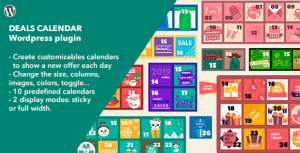 Deals Calendar – WordPress Plugin
