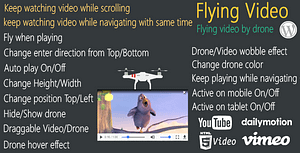 Flying Video for WordPress – keep watching video flying by d…