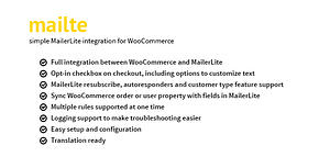 Mailte – MailerLite integration for WooCommerce