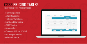 Responsive CSS3 Pricing Tables for WordPress