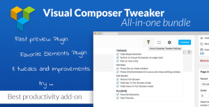 VC Tweaker – Visual Composer Productivity Add-on