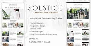 Solstice – Personal & Magazine WordPress Blog Theme