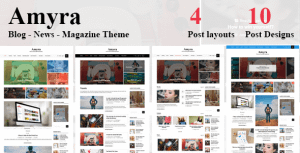 Amyra – Clean WordPress Blog/News/Magazine Theme