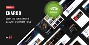 Enardo – Blog & Magazine WordPress Theme
