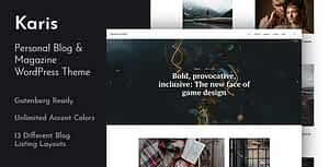 Karis – Personal Blog & Magazine WordPress Theme