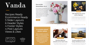 Vanda – Creative Blog / Magazine WordPress Theme