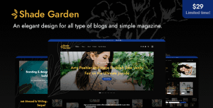 ShadeGarden – Creative Blog WordPress Theme