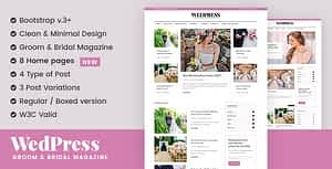 WedPress – Wedding Blog WordPress Theme