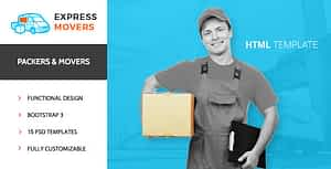 Express Movers – Moving Company HTML Template