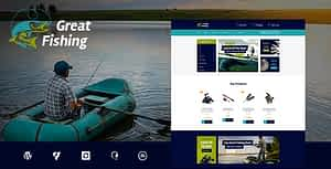 Fishing and Hunting Hobby WordPress Theme